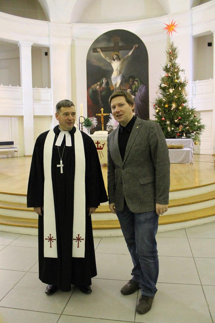 Алексей Гайдуков и Михаэль Шварцкопф, Петрикирхе,  24.12.2015