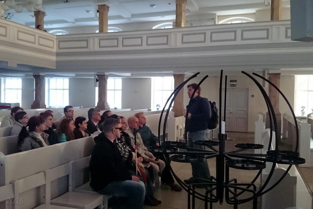 В церкви св. Марии ЕЛЦИ . Экскурсия по храмам Невского проспекта для незрячих, 12.05.2016