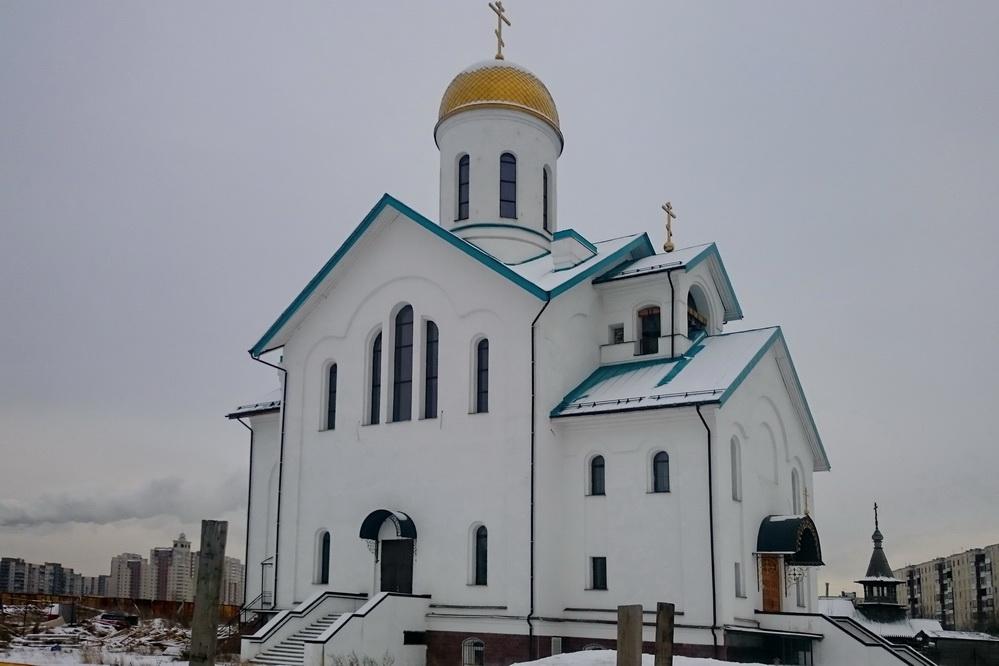 Храм Серафима Вырицкого в Купчино, 10.02.2017
