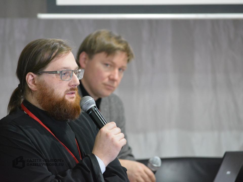 А.В. Гайдуков и о. Герман на конференции «Церковь и война», 22-23.09.2016