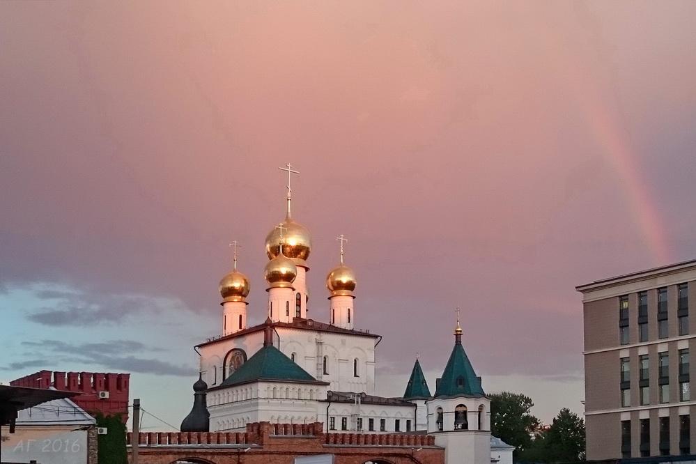 Феодоровский собор и радуга, 03.08.2016