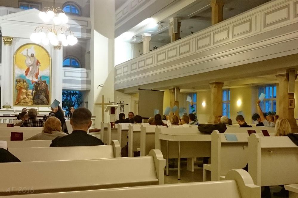 голосование. Синод ЕЛЦИ, церковь св. Марии. 14.10.2016