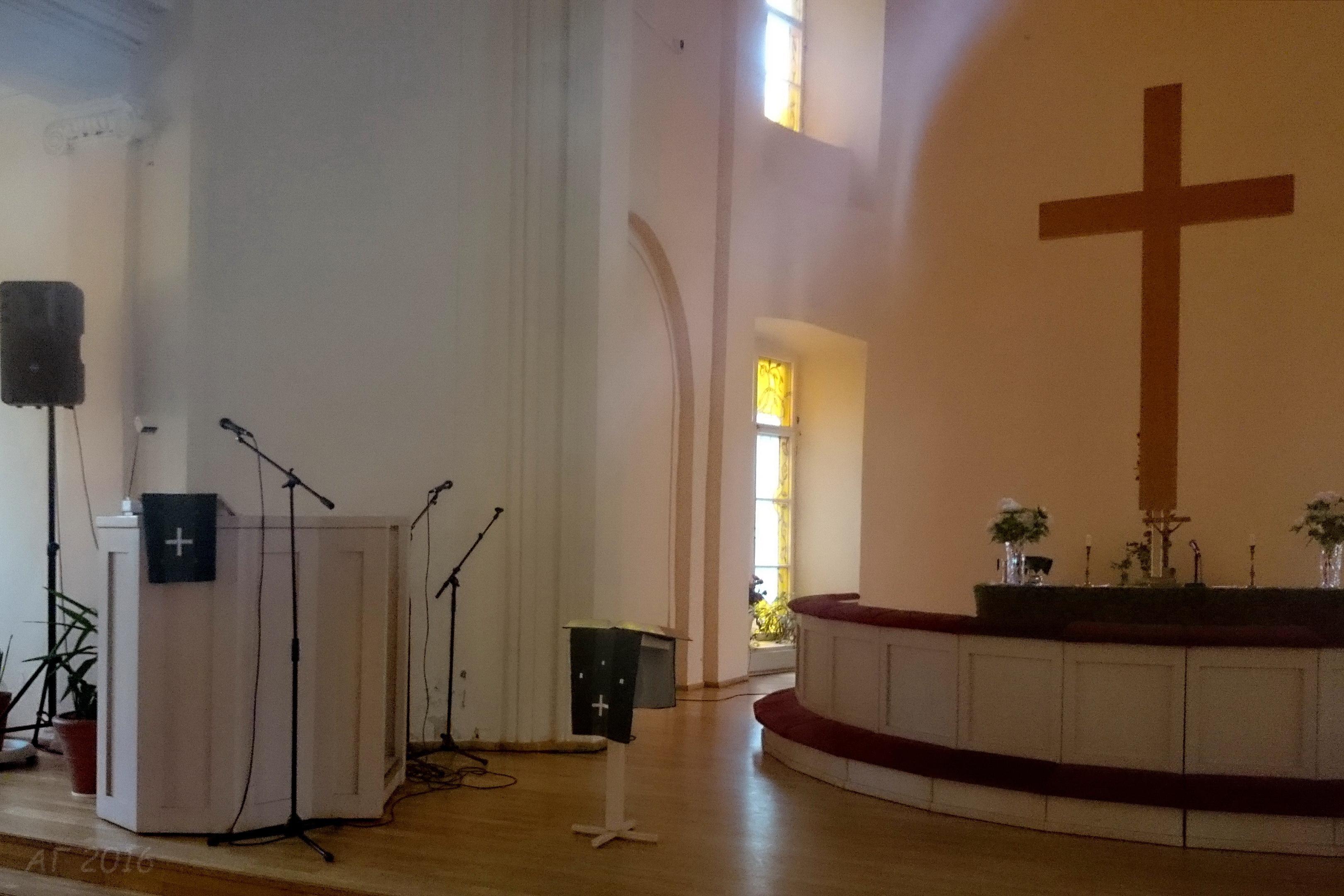 Кафедра и алтарь, Лютеранский Собор Святых Петра и Павла, Выборг, 28.10.2016