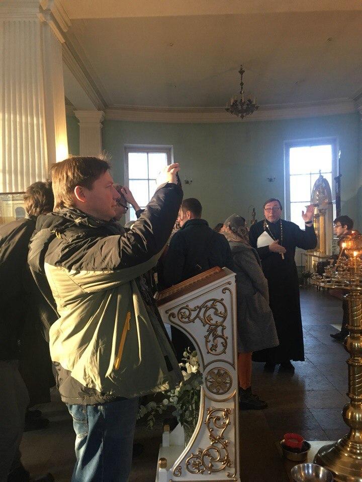 А.Гайдуков и студенты.  Благовещенская церковь. Код Петербуржца 3.0., 21.10.2017