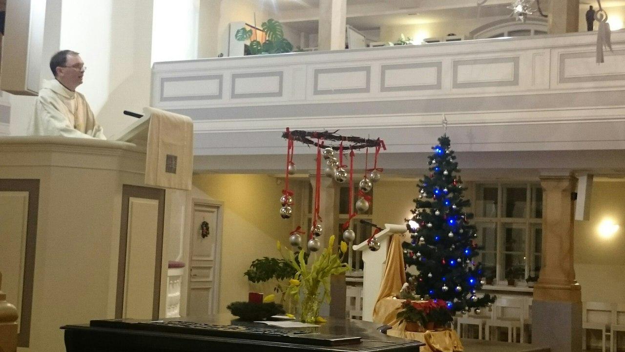 Пастор Михаил Иванов Сочельник, лютеранская церковь св.Марии (ЕЛЦИ), «Рождественский марафон», 24.12.2015.