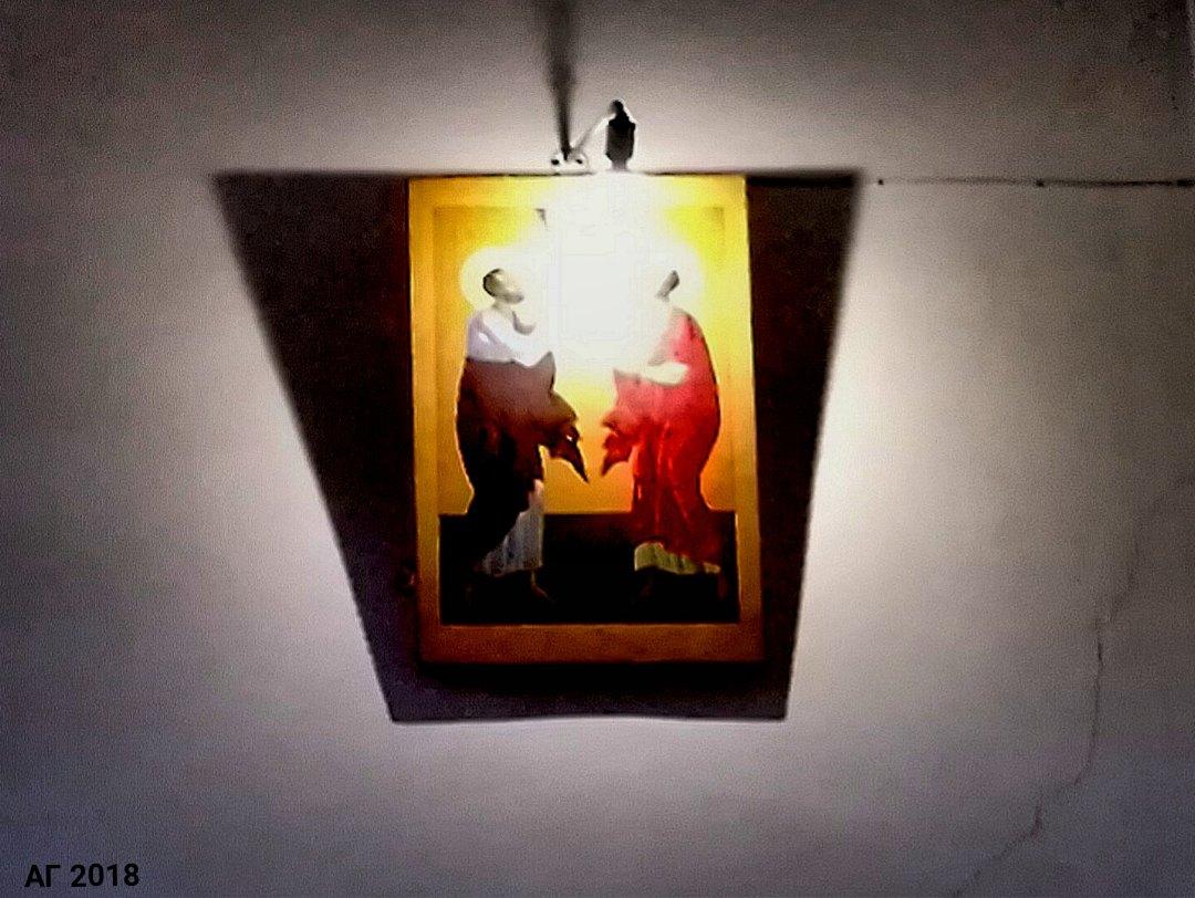 Икона в храме свв. апп. Петра и Павла в РГПУ им. А.И. Герцена, 14.03.2018