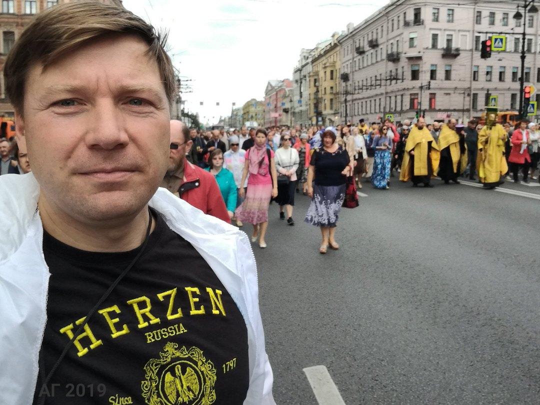 А.В. Гайдуков, опрос участников крестного хода, 12.09.2019