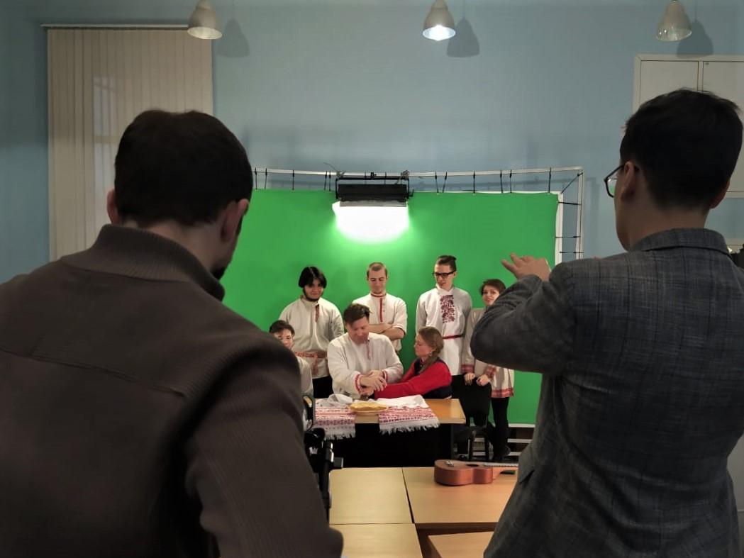 "Съёмки видеоролика ""Масленица"", Герцен-ТВ, 28.02.2020 (Фото: Лина Быстрова)"