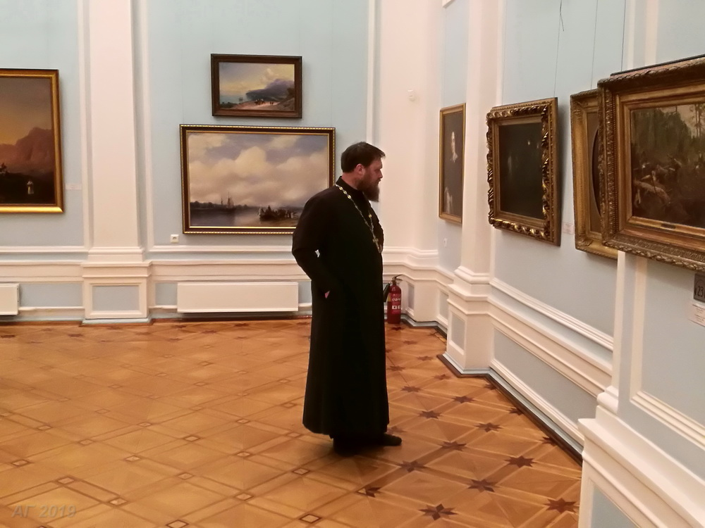 Участники конференции «Христианские ценности и научное познание как ресурсы развития общества» в Музее изобразительных искусств Республики Карелия, Петрозаводск, 23.10.2019