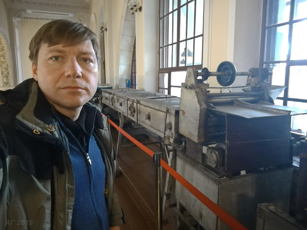 А.В. Гайдуков у мацапекарни в Хоральной синагоге Вильнюса, 29.09.2019