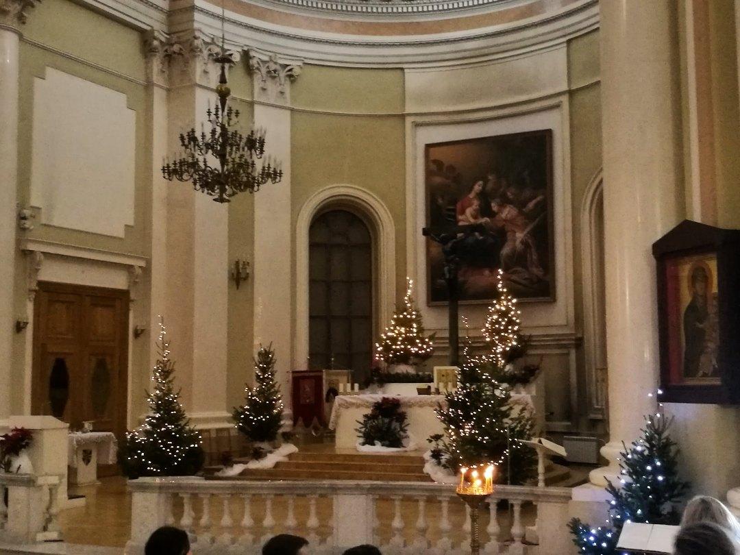 Рождественское убранство алтаря базилики св. Екатерины, «Рождественский марафон», 24.12.2019