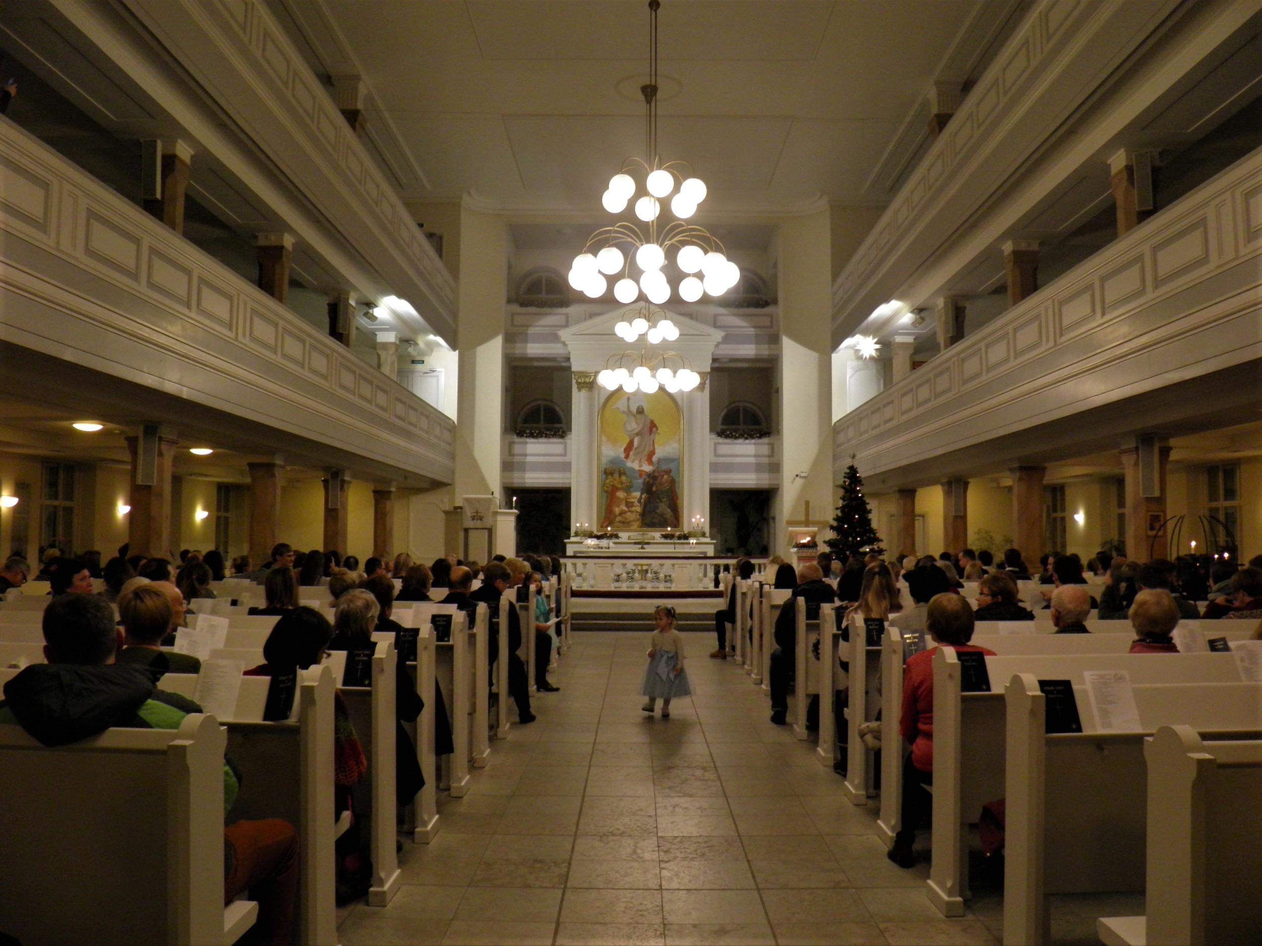 Зал лютеранской церкви св. Марии, «Рождественский марафон», 24.12.2019 (фото: А.Камалдинов)