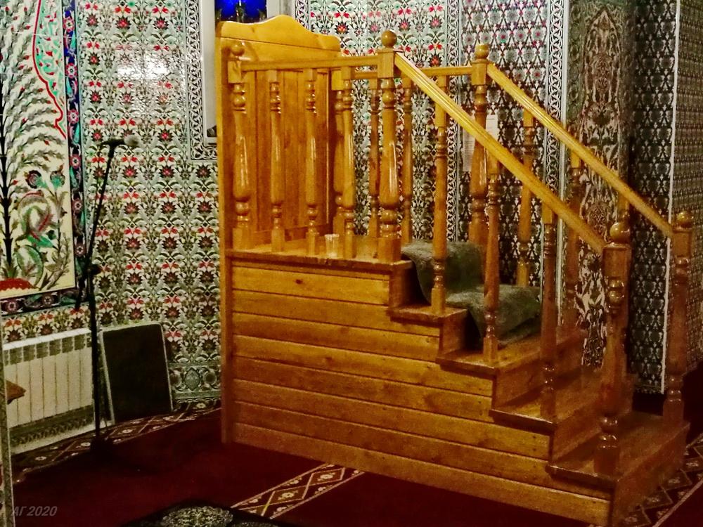 Минбар. Костромская мемориальная мечеть. Кострома, 02.08.2020