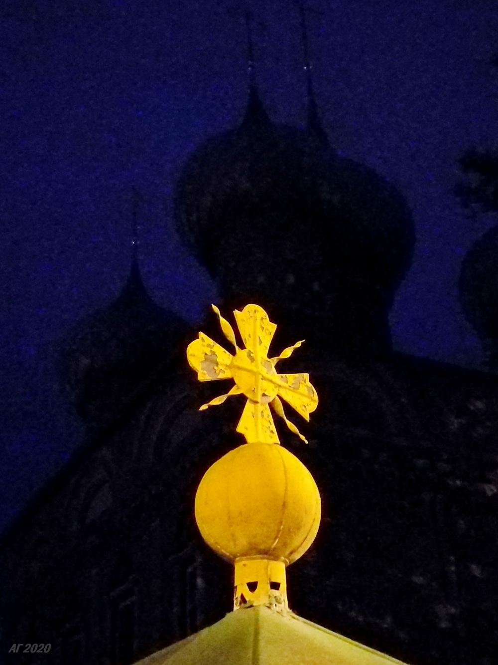 Элемент ограды Знаменского женского епархиального монастыря, Кострома, 02.08.2020